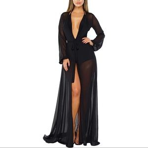 Mesh Cover up Maxi